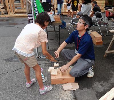 大工さんと木工