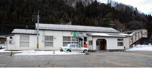 JR奥羽本線二ツ井駅