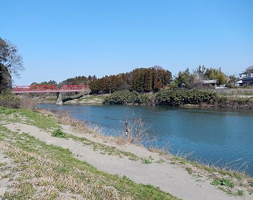 鬼怒川滝下橋付近