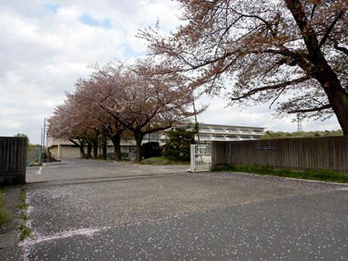 市立愛宕中学校正門前