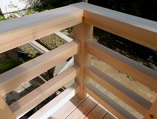 手摺り柵の施工03