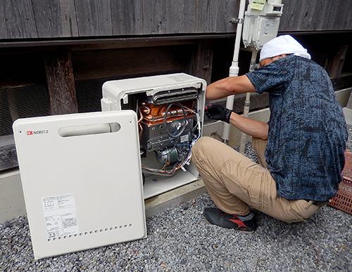 屋外給湯器の交換
