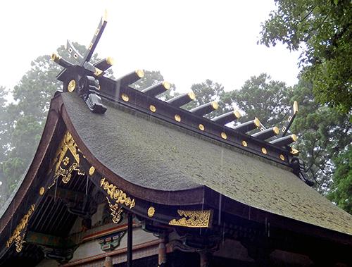 香取神宮本殿屋根