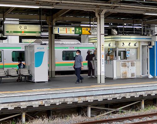 JR小山駅14番線ホーム
