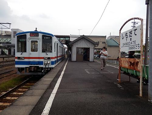関東鉄道常総線下館駅ホーム