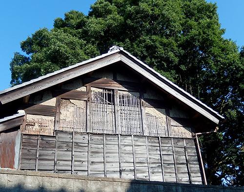 竹小舞に土壁