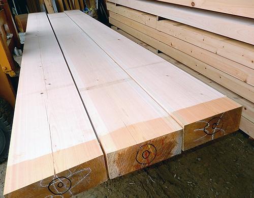 桧製梁用乾燥材01