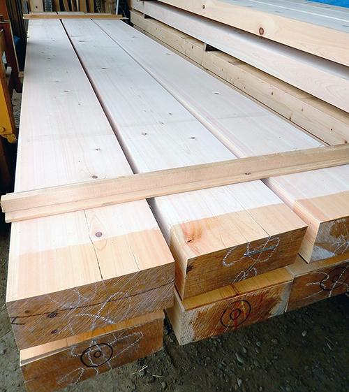 桧製梁用乾燥材02