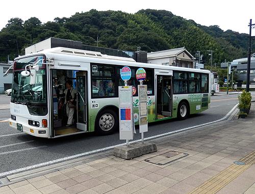 藤枝市岡部支所前バス停