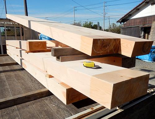 ヒノキ製梁材